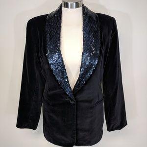The Limited Jackets & Coats - Limited Velvet & Sequin Blazer